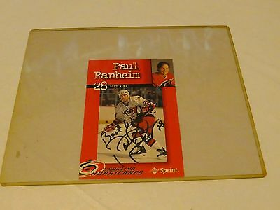 Paul Ranheim 28 Left Wing Singed collector Carolina Hurricanes Hockey autograph