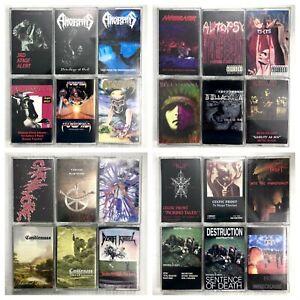 BUILD-UR-OWN-Cassette-Lot-80-039-s-90-039-s-Thrash-Death-Metal-Heavy-Metal-More