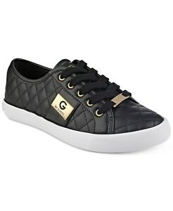 354a87b31c1e G by Guess Women's Backer2 Lace Up Leather Quilted Pattern Sneakers ...
