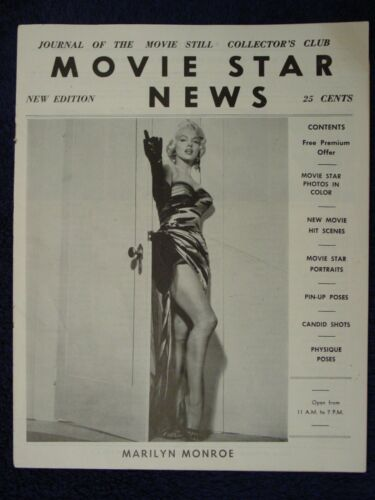 1950s MARILYN MONROE Cover&Images MOVIE STAR NEWS Catalog PINUP GIRL Photo Still