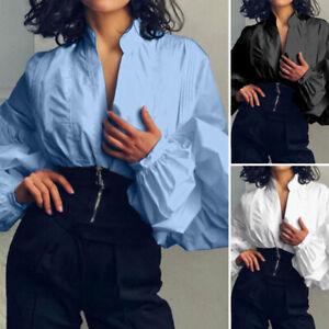 Zanzea-Women-Lantern-Sleeve-Casual-Long-Sleeve-Shirt-Tops-Oversize-Blouse-Plus