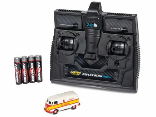 Carson 500504133 h0 automóvil vw t1 furgoneta caja auto Sinalco con 2,4gh RC-control inalámbrico