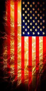 Waving American Flag Lights the Sky Cornhole 3M Vinyl Printed Decal Wrap Set