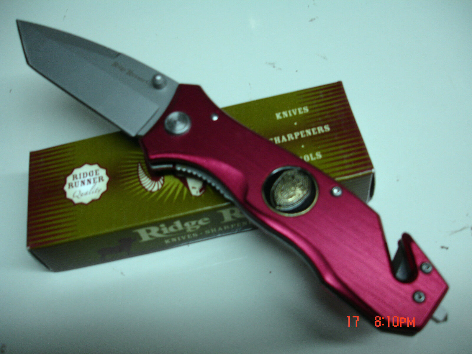 Ridge Runner  Tactiacl  Red Rescue Folding Knife