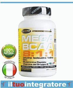 BCAA-8-1-1-Aminoacidi-Ramificati-811-Leucina-Glutammina-Peptide-Vitamine-400-cp