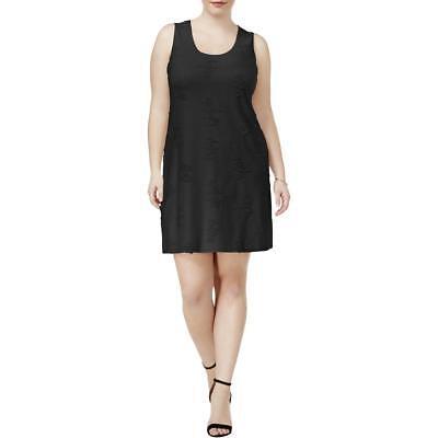 Plus Size Shredded Bodycon Fringe Sleeveless Tank Top Olive Green Dress 1X 2X 3X