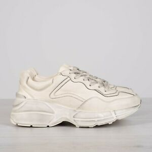 GUCCI-790-Ivory-Rhyton-Sneakers-In-Vintage-Distressed-Leather