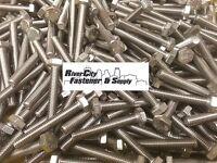 (5) M6-1.0x40 Stainless Steel Hex Head Cap Screws / Bolts 6mm X 40mm