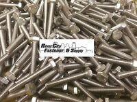 (10) M6-1.0x40 Stainless Steel Hex Head Cap Screws / Bolts 6mm X 40mm
