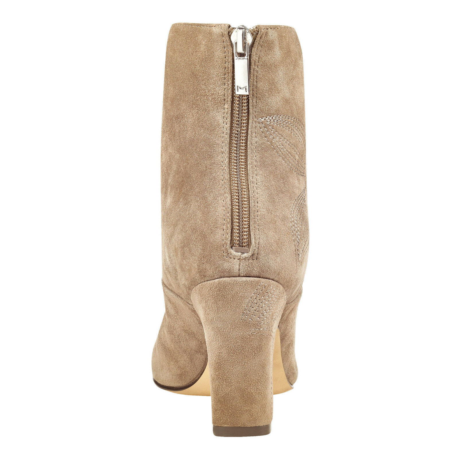 New New New In Box Womens Marc Fisher JOHNNY Taupe Suede Ankle Boots 865c52