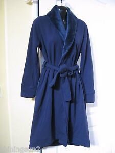 3eb08aadb1 Image is loading UGG-DUFFIELD-WOMEN-ROBE-NAVY-SIZE-SMALL