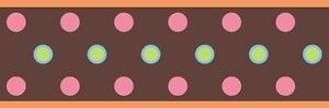BROWN-POLKA-DOT-WALLPAPER-BORDER-Girls-Peel-and-Stick-Bedroom-Room-Wall-Decor