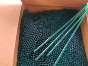 "(500) HUNTER GREEN COCKTAIL STIRS/STRAWS 5 1/4"" BAR/COFFEE SIP STRAW"