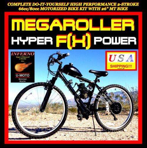 NEW COMPLETE DIY 2-STROKE 66CC//80cc MOTORIZED BIKE ENGINE KIT WITH MT BIKE