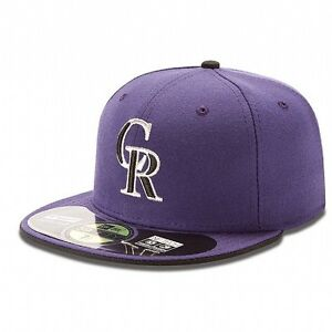 COLORADO ROCKIES Alternate 2 New Era 5950 On Field Cap Fitted MLB Baseball Hat