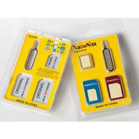2PACKS Nano SIM Card to Micro Standard Adapter Adaptor Converter Set for iPhone