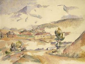 PAUL-CEZANNE-FRENCH-MONTAGNE-SAINTE-VICTOIRE-GARDANNE-ART-PRINT-POSTER-BB6229A