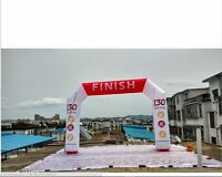 Custom Made 16 Ft Length 13ft Width Inflatable Finish Line Arch With Blower