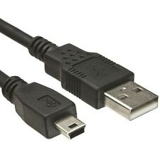 Cable Mini USB a USB male-male BLACK 50 cm for GPS!From Spain! a1580