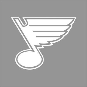 St Louis Blues Nhl Team Logo 1color Vinyl Decal Sticker