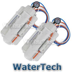 Lot-de-2-Osmoseurs-aquarium-WATERTECH-100GPD-380l-j-manometre-Filtres