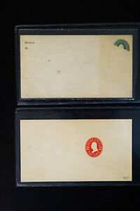 US-Lot-of-2-Unique-Early-1900s-Scarce-Mint-Stationary-Errors