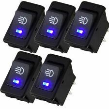 5x Universal Car 4 Pin 12v 35a Fog Light Rocker Switch Led Dash Lamp Switch