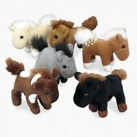 Realistic Plush Horses, Toys Stuffed Animals Kids Display Pack-of-12 Assorted