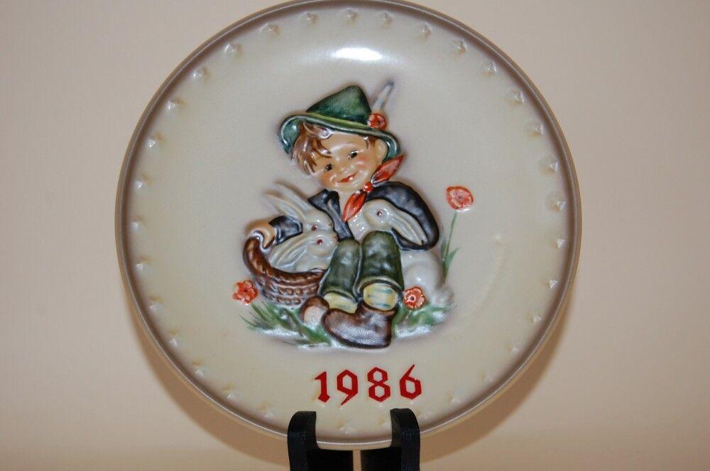 Jahresteller 1986 Sammelteller  Hasenvater  Hum 279 Hummel Goebel Neu + OVP
