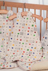 Babyschlafsack-Schlafsack-Kindeschlafsack-FANTASIA-Prolana-110-cm-Bio-Baumwolle