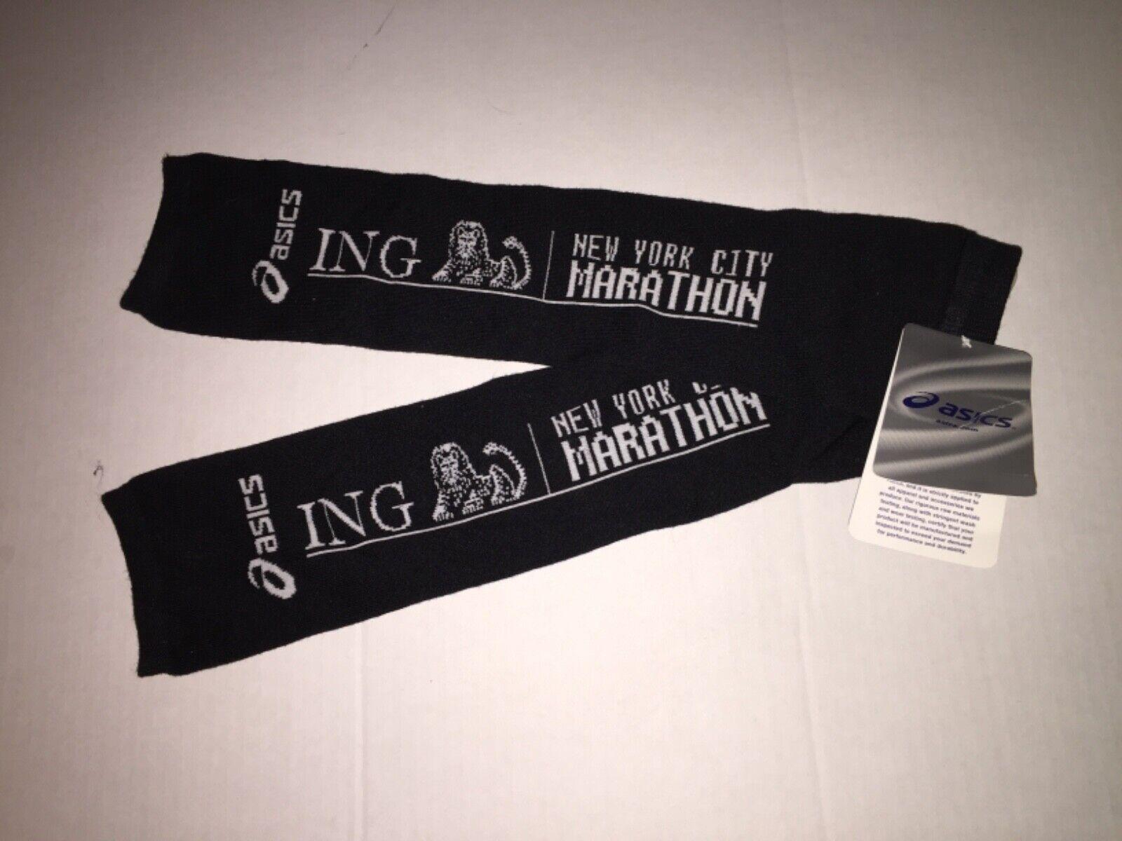 Asics New York City Marathon Arm Warmers for Running Thermal Jogging 1 pair