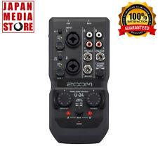 Zoom U-24 Handy Portable Audio USB Recording Interface 100 Genuine Product