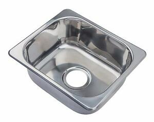 Hygenic Small 1.0 Bowl Inset Stainless Steel Kitchen Sink Sinks A11 ...