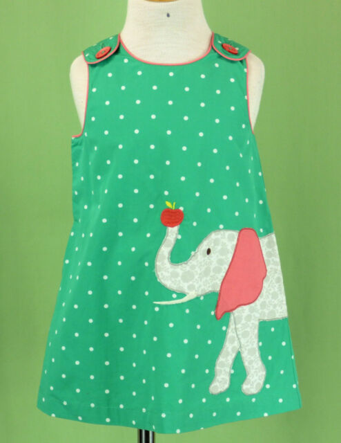 783161d660789a 342 Baby Mini Boden Girl Dress Green With Elephant Size 12-18m for ...