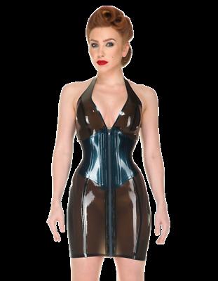 latex catsuit rubber gummi onepiece corset dress