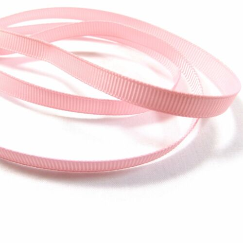 """Grosgrain Ribbon 6mm 1//4/"""" inch 35 Plain Coloured Double Sided//Faced Thin"""