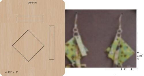 pendant Wooden die Scrapbooking Cutting Dies C-404-16 New Earrings