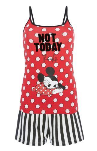 """DISNEY Mickey Mouse /""""non oggi grazie/'s Pigiama Pantaloncini /& Cami Set Donna Primark"""