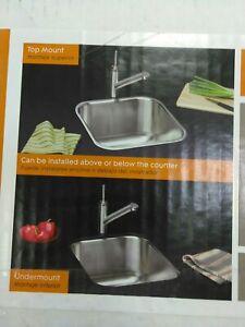 ELKAY HD342391 TOPMOUNT Single bowl  kitchen sink,9 in. deep 18-gauge in(#41)