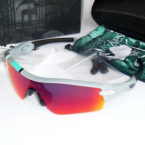 7d7a125aea Image is loading Oakley-Radar-Path-Sunglasses-Polished-Fog-Red-Iridium-