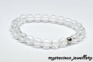 Natural Clear Quartz Bracelet Fertility Pregnancy Gemstone Healing Stone Reiki