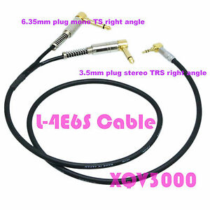 PRO-signal-3-5mm-plug-stereo-TRS-RA-to-2x-Y-Cable-6-35mm-mono-TS-RCA-male-L-4E6S