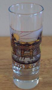 Collectible-ELLIS-ISLAND-Shot-Glass-Statue-Liberty-New-York-Whiskey-Liquor-Rare