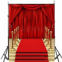 5x7ft Vinyl Red Carpet Curtain Backdrop Studio Photography Photo Background Prop