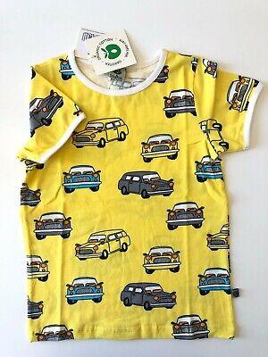 Smafolk Tshirt cars Yellow Taille 86//92 à 104//110 NEUF