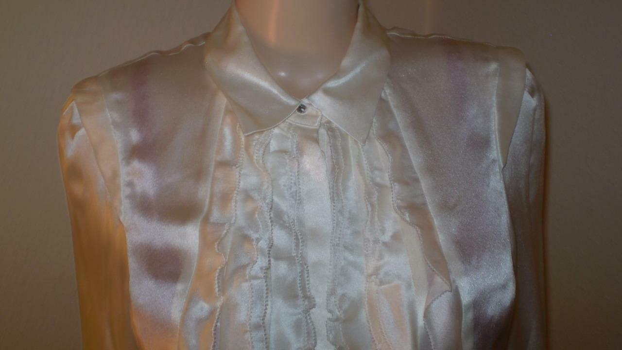 NEW NWT MAGASCHONI SILK SATIN SHIRT BLOUSE DRESS SUIT TOP 390.00 ORG private auc