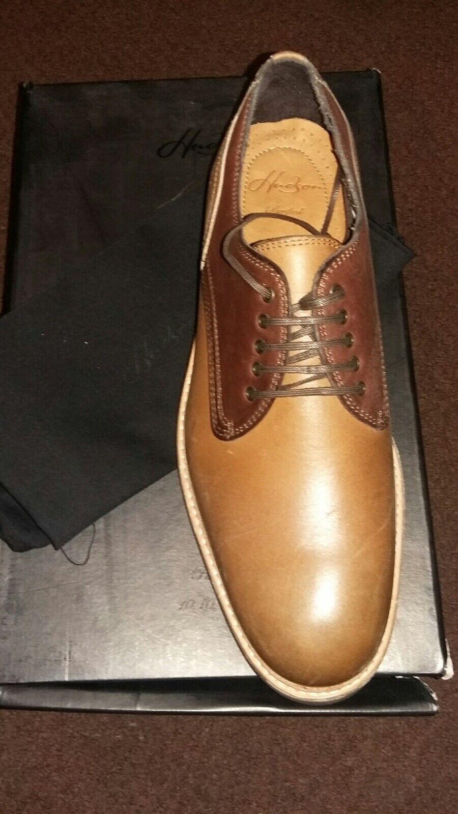 H by Hudson AUBIN Pelle Gibson da Uomo in Pelle AUBIN in Pizzo Tan BRN Formale Scarpe Misura b6037c