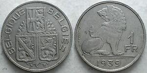 1939 Belgique Belgique Belgie 1 Franc Aggjviat-07234040-481494384
