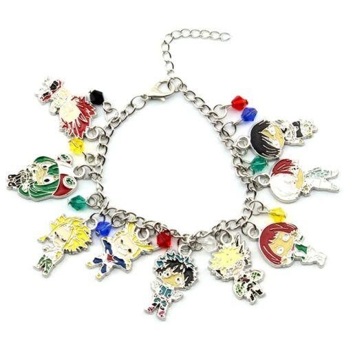NEW Anime My Hero Academia Bracelet Retro Metal Chain Charm Midoriya Lldty