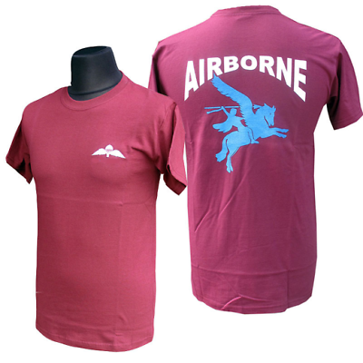 PEGASUS MAROON AIRBORNE FORCES SWEAT SHIRT WITH PARA WINGS-SM-XL